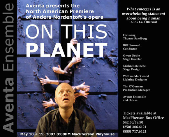 On This Planet - an opera by Anders Nordentoft. Photo by Martin Tulinius