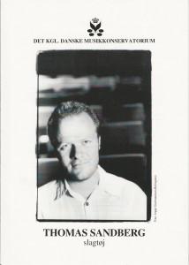 Programforside til Thomas Sandbergs debutkoncert fra Det Kongelige Danske Musikkonservatorium
